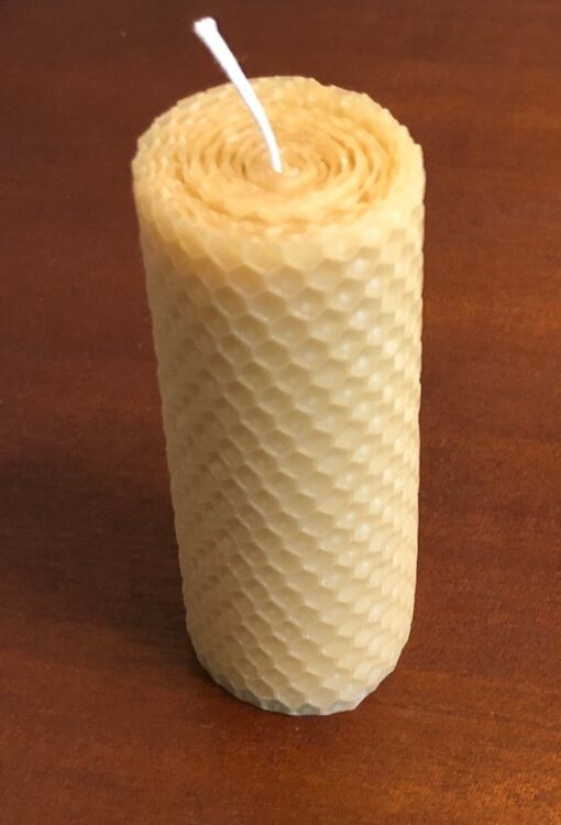 100% pure beeswax pillar candle will help you be happy and healthy all year