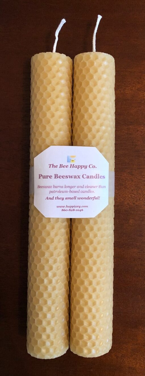 Candles made from pure beeswax hive products from the beehives