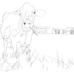 Coloring Book Page ~ Contented Cow